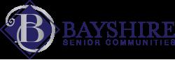 Bayshire Senior Communities logo in Navy