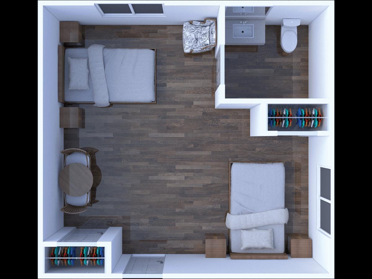 Memory Care Semi Private Floor Plan
